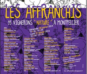 Salon Bio 2014 - Salon Les AFFRANCHIS - 35 Vignerons Nature - Montpellier