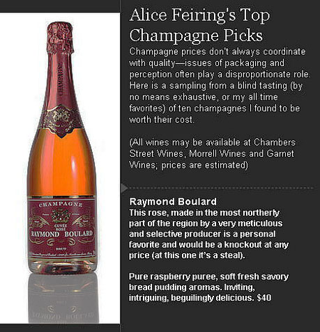Wall Stree Journal - Champagne - Alice Freiling's Top Champagne Picks