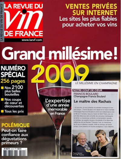 Revue du vin de france mill simes 2009 vintages for Revue des vins de france