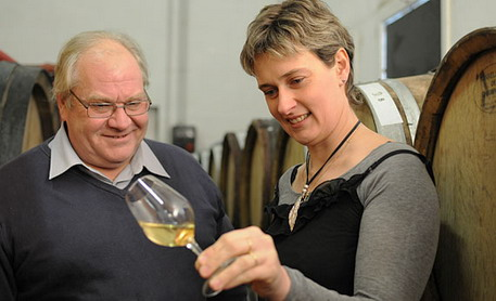 Champagne Francis Boulard - Francis Boulard and his daughter Delphine
