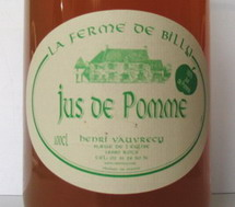 jus de pomme fermier de Billy - Normandie