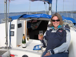 The Boulard Réserve champagne goes very well with sailing in the hebrides from S. Pickles